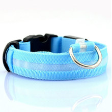 LED Nylon Pet Dog Collar Light Night Safety Light-up  Flashing Glow in the Dark Lighted Cat Collar LED Dog Collars For Small