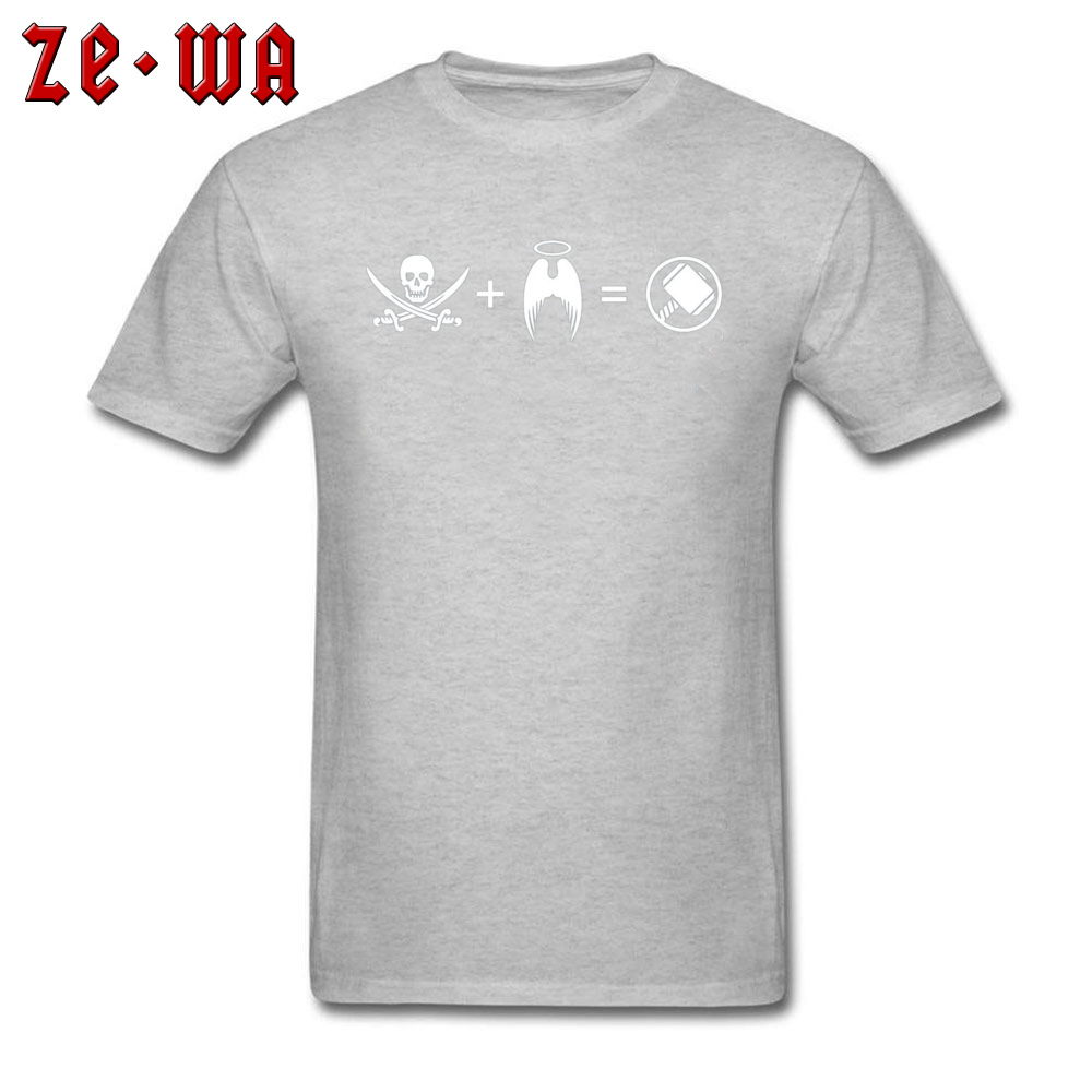 Men T-shirts Custom Classic T Shirt 100% Cotton Crew Neck Short Sleeve Casual Sweatshirts Summer Free Shipping Its Like A Pirate Had A Baby With An Angel grey