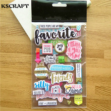 KSCRAFT My Friends 3D Die Cut Self-adhesive Stickers for Scrapbooking Happy Planner/Card Making/Journaling Project