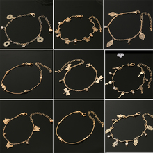 Charm Bracelets & Bangles Rose Gold Color Fashion Simulated Butterfly Wedding Jewelry For Women Gift