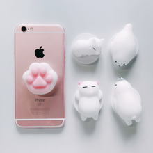 Buy Cute Squishy Cat 3D Round Expand Phone Holder Stand Grip Universal Smartphone Tablet 360 Round Finger Ring Mount iPhone X 8 for $1.11 in AliExpress store