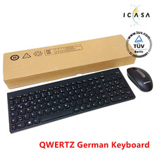 MAORONG TRADING QWERTZ German keyboard Wireless mouse and keyboard set mute computer slim HTPC Home office 2.4G USB keyboard(China)