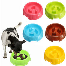 Anti Choke Pet Dog Bowls Portable Plastic Puppy Dog Slow Down Eating Feeder Bowl Pet Eating Feeder Dish