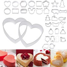 Lovely Biscuit Cake Mould Cartoon Mickey DIY Baking Tools Mouse Shape Metal Cookie Cutters Fruit Fondant Mold Cook Decoration
