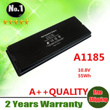 "Wholesale New 6cells laptop battery FOR APPLE MacBook 13"" A1185 A1181 MA561 MA561FE/A MA561G/A MA561J/A Black   free shipping"