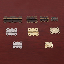 Vintage Jewelry Wood Wooden Box Hinge With Screws Gift Wine Dollhouse Door Hinge Butterfly Small Hinge Furniture Corner Cabinets(China)