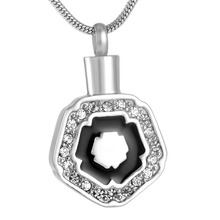MJD9147 Discount !!! Big Sale 50% Off Crystal Geometric Shape Pet Memorial Pendant Necklace (Pendant only)