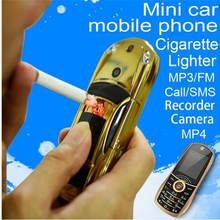 newmind Y918 bar small size idealy sport cool car key toy model electronic gas lighter facebook GPRS cell mini mobile cellphone(China)