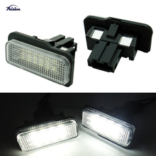 2PCS 18SMD Error Free LED License Plate Light Lamp For Benz W219 W211 W203 WAGON
