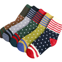 1Pair Men Socks Star Stripe Design Casual Cartoon Cotton Socks Funny Male Happy Socks High Quality Hot Sale Tube Sox