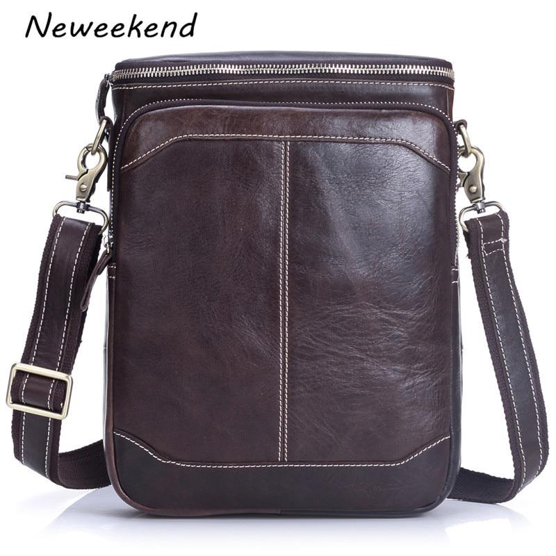 NEWEEKEND Genuine Leather Men Bags Hot Sale Male Small Messenger Bag Man Fashion Crossbody Shoulder Bag Mens Travel New  LS-094<br>