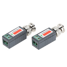 2pcs CCTV Video Balun Passive Transceivers 2000ft Distance UTP Balun BNC Cable Cat5 CCTV UTP Video Balun