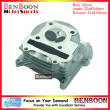 GY6 105cc 52mm Scooter Big Bore Cylinder Head With big valves for 4T Chinese Moped Scooters, ATV Znen UMBaotian Free Shipping
