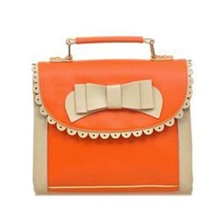 Women Handbags Shoulder Bag Leather Shoppers Satchel Totes Messenger Bags Orange(China)
