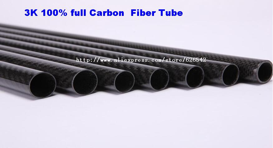 2 pcs 30mm x 28mm 3K 100% full Carbon  Fiber Tube  500mm Long  for  RC Airplane Multicopter Arm Quadcopter  Model free shipping<br>