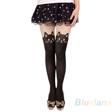 Buy 2016 Sexy Women Cat Tail Gipsy Mock Knee High Hosiery Pantyhose Panty Hose Tattoo Tights Hot Selling 8OOK