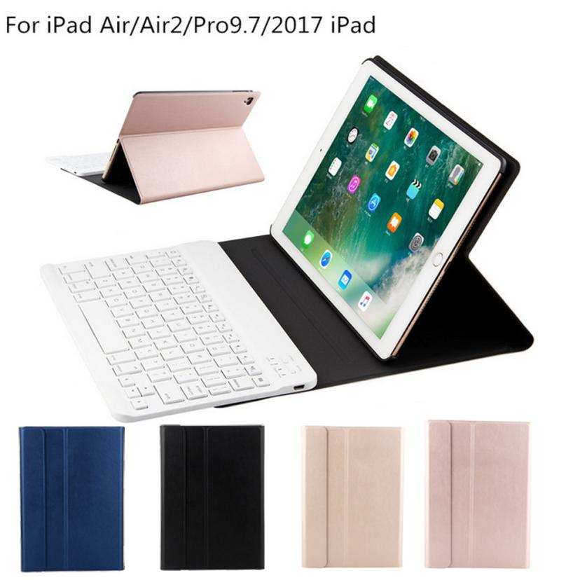 Wireless Bluetooth Keyboard + Leather Case For Apple iPad Air 2 / iPad Pro 9.7 DE21 Dropship<br>