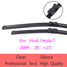 "High-Quality Windshield Wiper Blades for Ford Fiesta 7  2009-present 26""+15"" Car Accessories Soft Rubber Wiper Blades"