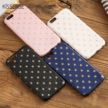 KISSCASE Slim Case For iPhone 6 6s 7 Plus Golden Star Phone Cases For iPhone 7 6s Plus Fundas Flexible TPU Protective Back Cover