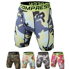 Summer 2017 Outdoor Jogger leggings Camouflage Base Quick-drying Fitness Tight close-fitting Compression Short Basketball Shorts