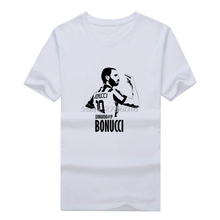 Men T-shirt AC milan Maglietta #19 Leonardo Bonucci Uomo Man Bianco Clothes T Shirt Men's for juventus fans gift tee W0603001