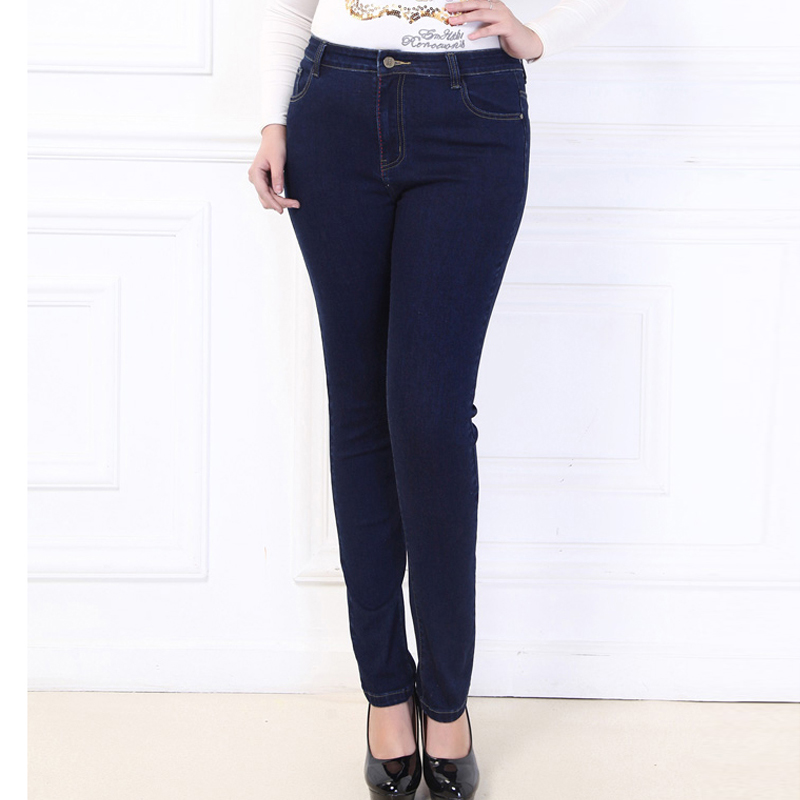 Fashion Skinny Jeans Woman Autumn New Casual Elastic Pencil Jeans For Women Slim Blue Jeans High Waist Womens Denim Pants 32-42Одежда и ак�е��уары<br><br><br>Aliexpress