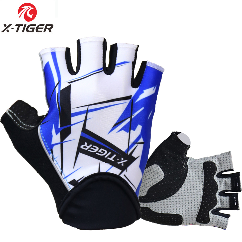 X-Tiger 3D GEL Pad Bright Green Sport Gloves With Reflective Half Finger MTB Bike Gloves Cycling Gloves Mountain Bicycle Gloves 15