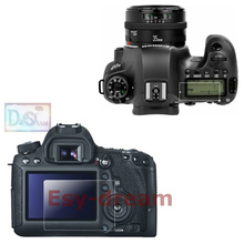 Protective Self-adhesive Glass Main LCD + Film Info Screen Protector Guard Cover for Canon EOS 6D