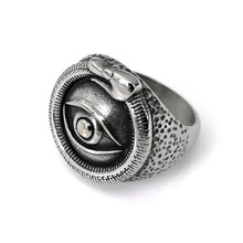 Hemiston Male Ring Stainless Evil Eye Men Ring Personality High Quality Punk Cool Fashion Jewelry for Party R258(China)