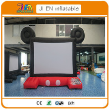 free air shipping,16:9 giant front/rear/back inflatable projector projection screen,inflatable film air screens