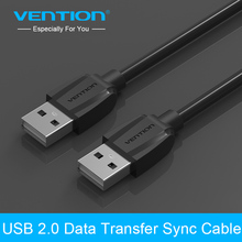 Vention High Quality Black USB 2.0 Male To Male M/M Extension Connector Adapter Cable Cord Wire 25cm/50cm/100cm/150cm/200cm