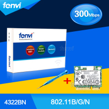 Fenvi Dual Band 300Mbps Notebook Wlan Wireless Wifi Card for Dell DW1510 Broadcom BCM94322HM8L BCM4322 Half Mini PCI-E Wlan Card
