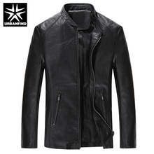 URBANFIND Brand Fashion Men Quality Leather Jackets Size M-4XL Soft PU Leather Man Cool Motorcycle Jacket Coats
