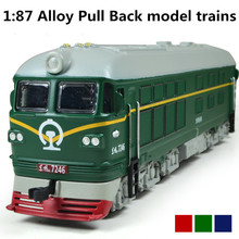 Hot Alloy model trains, 1: 87 alloy pull back train, engine train, classic children's toys, Diecasts & Toy Vehicles