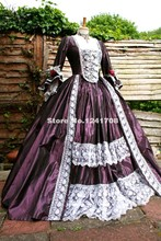 Gorgeous 18 Century Marie Antoinette Court Long Prom Dress Rococo Baroque Gowns Steampunk Victorian Dress Robe De Soiree
