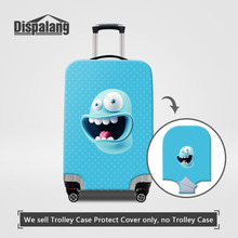 Dispalang Cartoon Suitcase Cover Screaming 3D Print Women Luggage Protective Cover SML Kids Luggage Protector Travel Accessories