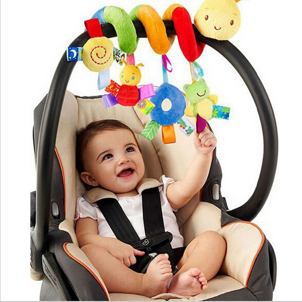 2016 New Infant Toys Baby Crib Revolves Around The Bed Stroller Playing Toy Crib Lathe Hanging Baby Rattles Mobile(China)