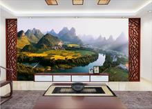 3d room wallpaper custom mural non-woven wall sticker 3 d The dawn of pastoral scenery painting photo 3d wall murals wallpaper(China)