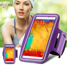 KISSCASE Universal Workout Running Arm Band Phone Holder Case For Samsung Galaxy Note 3 4 5 S3 S5 S7 Edge Waterproof Cover Case