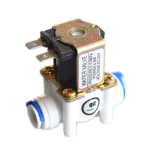 "Free shipping 24Vdc New plastic solenoid valve water valve Normally closed 3/8"" ID9.5mm RO water purifier parts(China)"