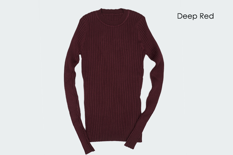 Women Sweater Pullover Basic Rib Knitted Cotton Tops Solid Crew Neck Essential Jumper Long Sleeve Sweaters Autumn Winter 17 14