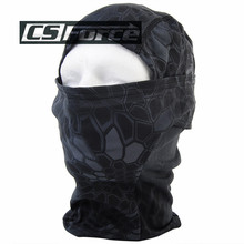 CS Force Breathable Chiefs Rattlesnake Camo Mask Paintball Full Face Mask Motorcycle Cycling Hunting CS Balaclava Mask