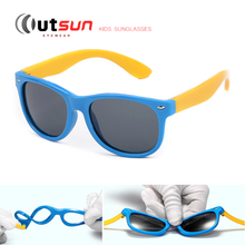 OUTSUN New Top Quality Kids TAC Polarized Kids Sunglasses UV400 Boy/Girls Cool TR90 Rubber Casual Glasses Out Door Eyewear