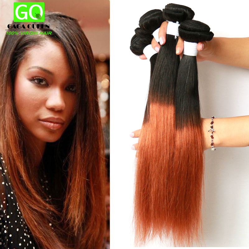 Ombre Hair Extensions 3 Bundles Malaysian Virgin Hair Straight Two Tone Human Hair Weave Straight Ombre Malaysian Hair Straight<br><br>Aliexpress