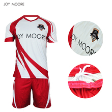 Custom Men's football kit uniform home soccer jersey set full sublimation print personalized football jersey(China)