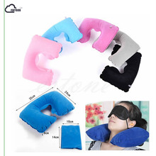 ISKYBOB Inflatable Travel Pillow Air Cushion Neck Rest U-Shaped Compact Plane Flight Travel Accessories(China)