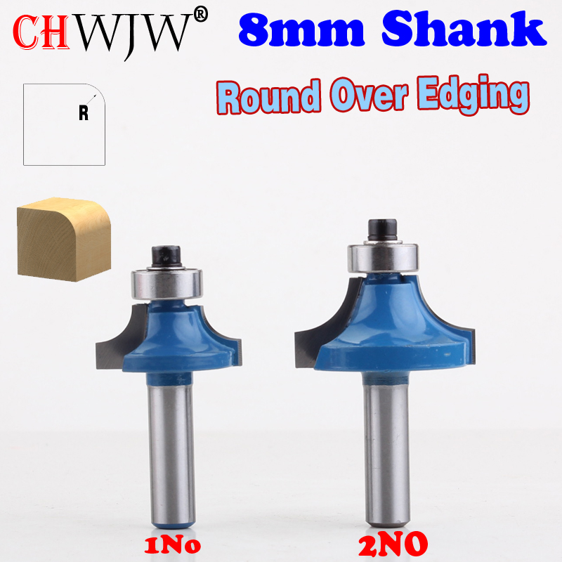 """6PC 1//4/"""" Shank Round Over Router Bit Set 1//2,3//8,5//16,1//4,1//8 Woodworking Cutter"""