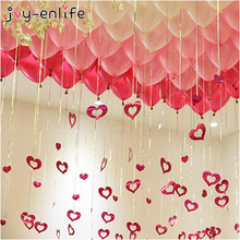 JOY-ENLIFE Heart Shaped Card Love Pendant Wedding Marriage Room Arrangement Balloon Background Decor Valentine 's Day Supplies(China)