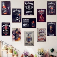 Shabby Chic Jack Vintage Metal Tin Sign Bar Cafe Pub Tavern Wall Decor Beer Wine Art Painting Plate Plaque 30x20cm Wholesale A74