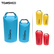 TOMSHOO 10L/20L Waterproof Dry Bag Fishing Bag Storage Sack Outdoor Swimming Diving Camping Climbing Bag Pouch with Phone Case